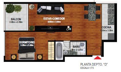 1 dormitorio con Balcon 2