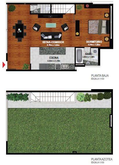 1 dormitorio con Jardin