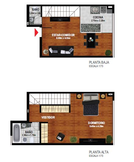 Duplex 1 dormitorio 3