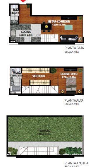 Duplex 1 dormitorio 4